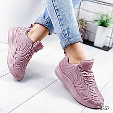 """Кроссовки женские """"Stavle"""" лилового цвета из текстиля. Кеды женские. Мокасины женские. Обувь женская, фото 3"""
