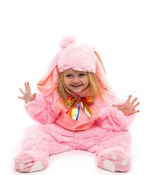 Для младенцев наряд зайчика 0.5-2.5 лет пижамка для деток розовый цвет ткань - мех