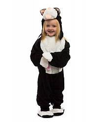 Для малышей комбинезон черного котика 0.5-2.5 лет пижамка для деток ткань - мех маскарадный костюм
