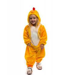 Теплый костюм для деток маскарадный цыпленок от 2 до 3 лет для малышей на праздник