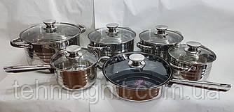 Набор посуды UNIQUE UN-5033 из нержавеющей стали 12 предметов