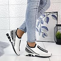 Кроссовки стрейч  Dolce & Gabbana белые, фото 1