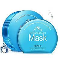 Набор масок Rorec Nourishing Facial Mask на основе ледниковой воды в пластиковом контейнере голубая (6шт)