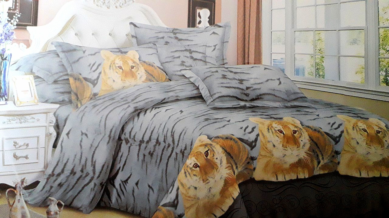Двуспальный комплект постельного белья с 3D эффектом