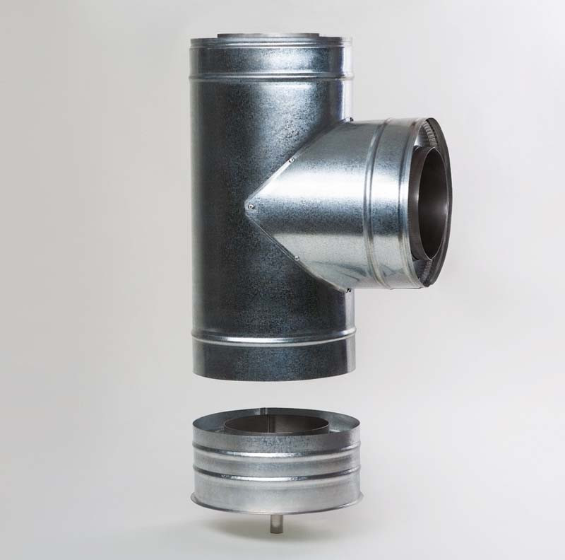 Н/ОЦ Тройник 90° двуст. (AISI 304/ОЦ) d160/220 мм