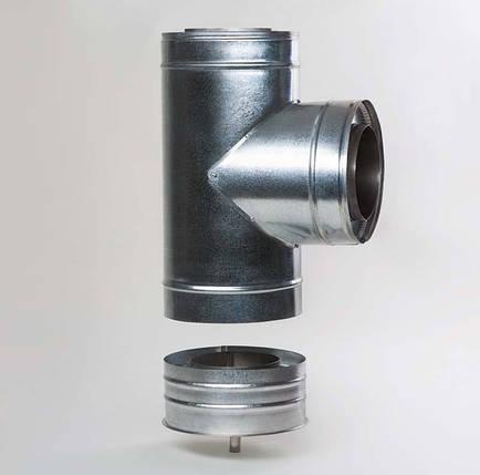 Н/ОЦ Тройник 90° двуст. (AISI 304/ОЦ) d160/220 мм, фото 2