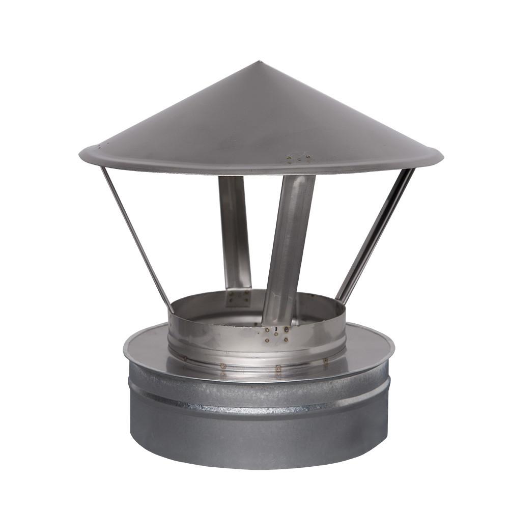 Н/ОЦ Зонт вент. двуст. (AISI 304/ОЦ) d120/180 мм