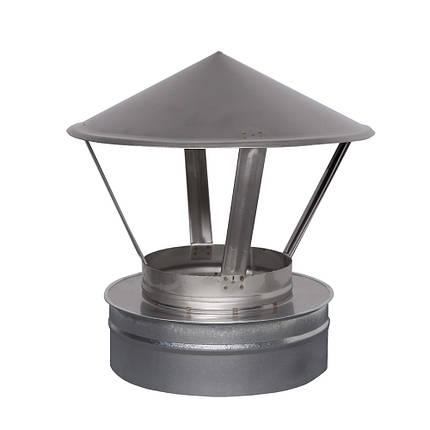 Н/ОЦ Зонт вент. двуст. (AISI 304/ОЦ) d130/200 мм, фото 2