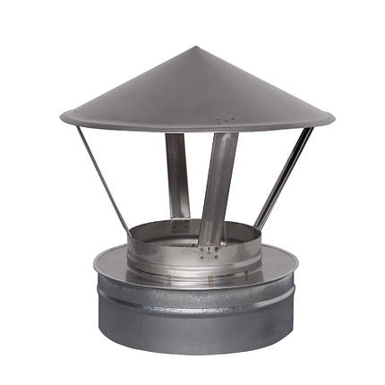 Н/ОЦ Зонт вент. двуст. (AISI 304/ОЦ) d150/220 мм, фото 2