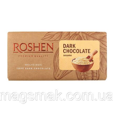 Шоколад Рошен черный с семочкой сезама , 90 г, фото 2