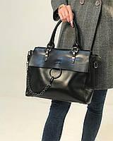 Большая Женская кожаная сумка кожа натуральная  шоппер Стеганая fashion