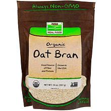 """Органические овсяные отруби NOW Foods, Real Food """"Organic Oat Bran"""" (397 г)"""