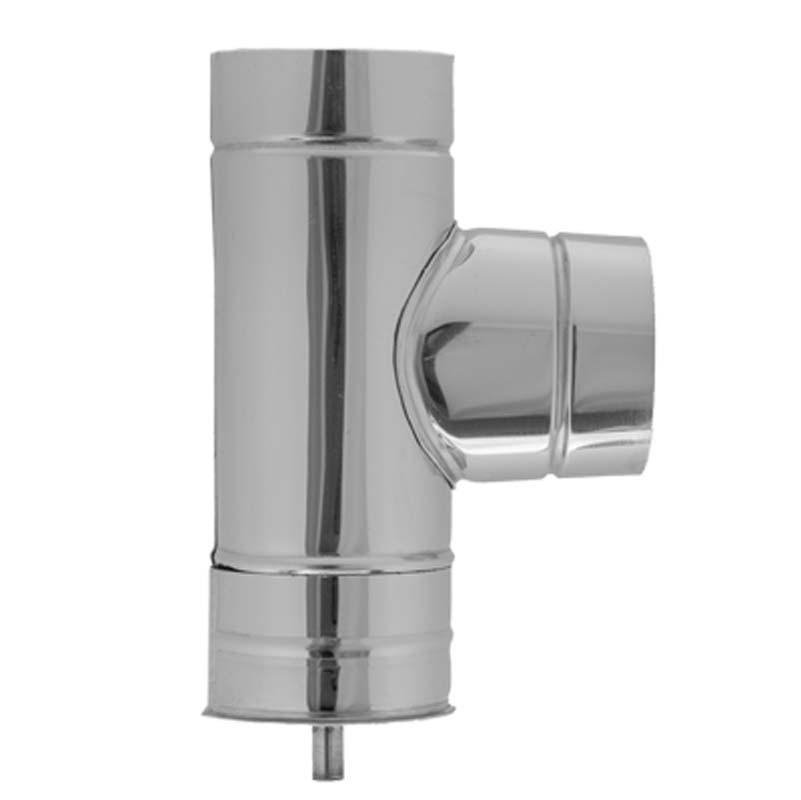 AISI 430 Тройник 90° s0,5 мм d125 мм