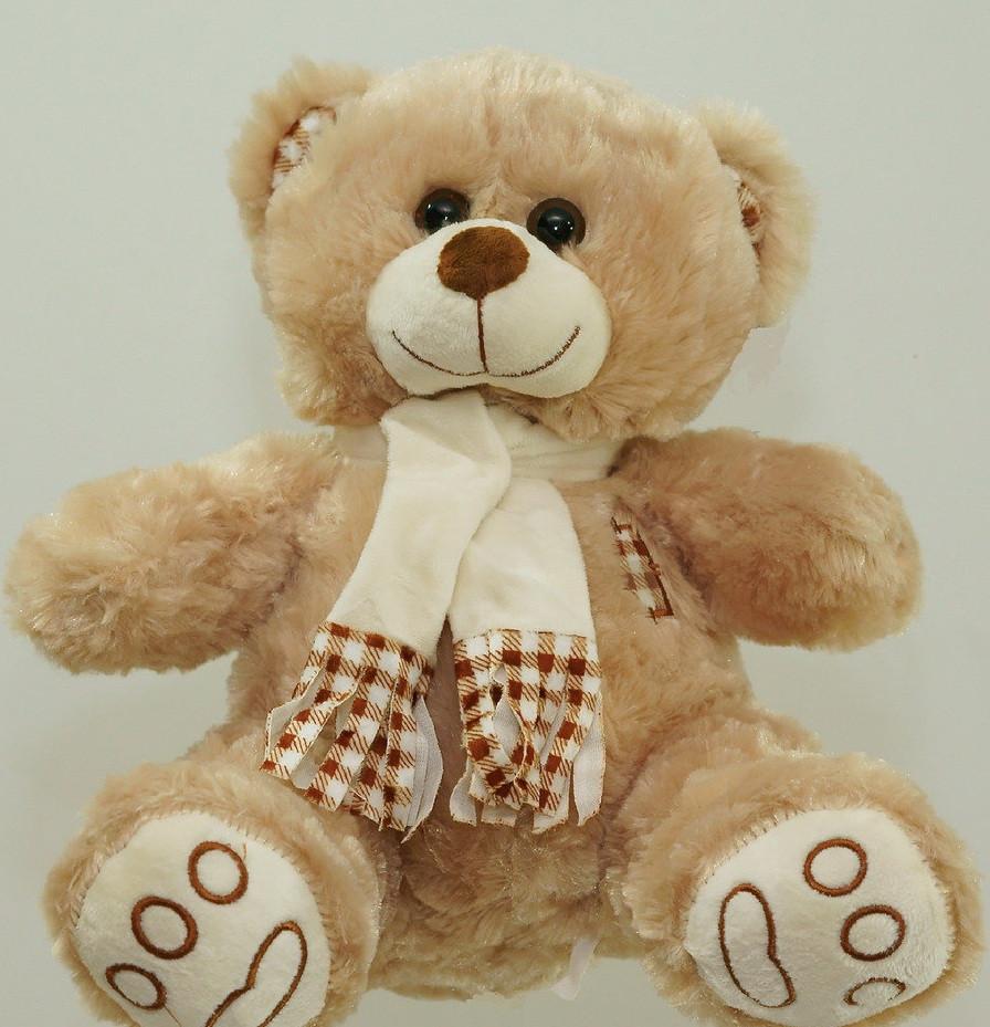 Іграшка Ведмедик 68 см плюшевий ведмідь у шарфі