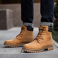 Ботинки черевики Тімб світло-коричневі Зима