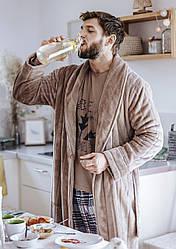 Теплый халат мужской.Польша.KEY MGL 255