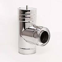 Н/Н Тройник 90° двуст. (АISI 304/430) d100/160 мм