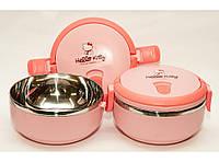 """Термос для еды круглый """"Hello Kitty"""", 700 мл (1 отделение). Ланч-бокс для еды, Термобокс пищевой."""