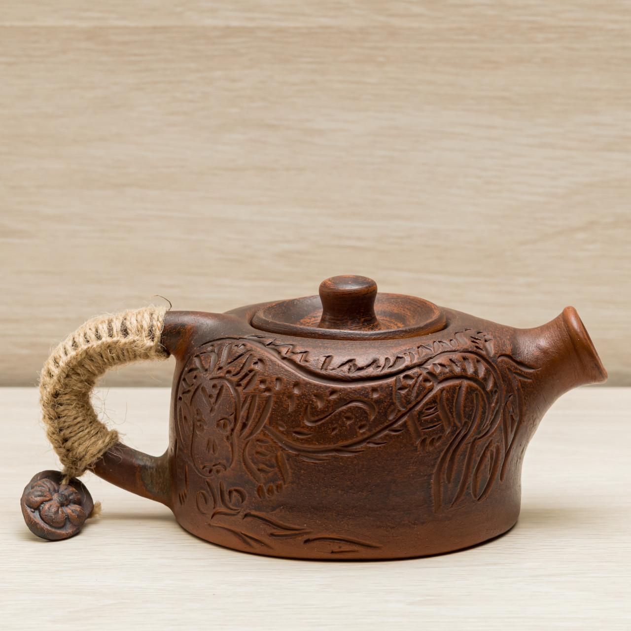 Глиняный Чайник заварочный  Дракон 0,5л