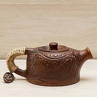Глиняный Чайник заварочный  Дракон 0,5л, фото 1