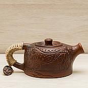 Глиняний Чайник заварювальний Дракон 0,5 л