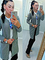 Супер модный женский  кардиган вязка с капюшоном