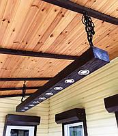 Декоративный подвесной брус-балка из натурального дерева