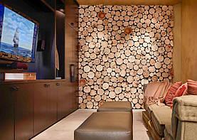 Декоративное панно из срезов, картина из срезов дерева