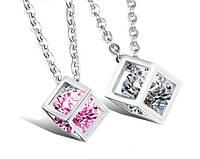 Парные кулоны для влюбленных Алмазный куб