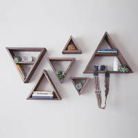Декоративная полка треугольники