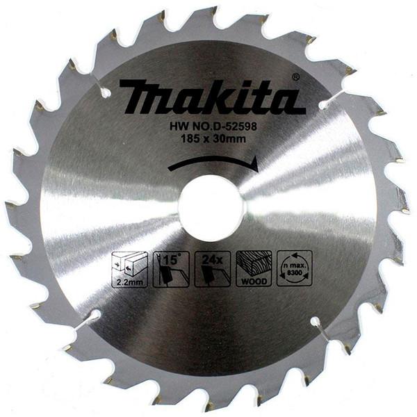 Пильный диск Makita ТСТ по дереву 185x30мм x 24 зуба (D-52598)