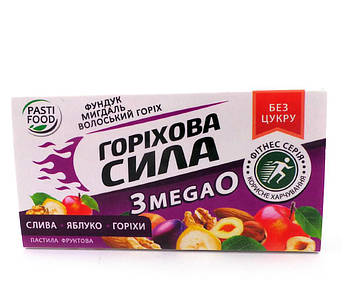 Пастила Слива Яблоко Орех серия Ореховая сила Pasti Food 50 г