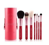 Набор кистей для макияжа в тубусе ZOREYA Makeup Brush Set - 7 pc Розовый