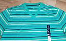 Зеленая  хлопковая мужская футболка в полоску GAP (США) (Размер L), фото 2
