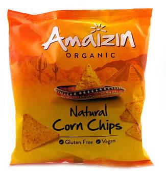Кукурузные чипсы органические Без глютена Amaizin 75 г