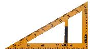 Угольник TEACHER 90 60 для школьной доски 50 см желтый Kids Line ZiBi txt ZB 5638