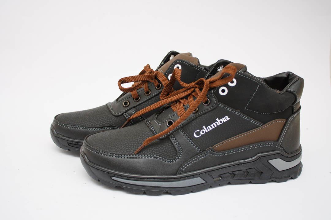 Мужские ботинки (Код: Б-08 черн-коричн )