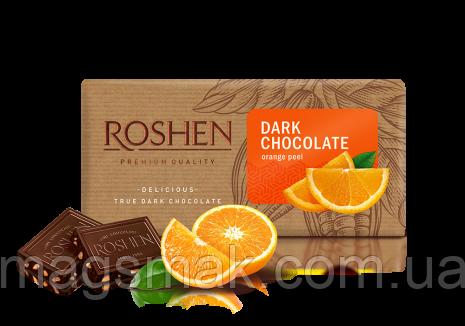 Шоколад Roshen черный с апельсиновой цедрой 90г, фото 2