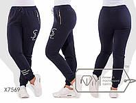 Зимові штани жіночі на флісі ТЖ/-032 - Темно-синій, фото 1