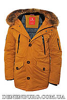 Куртка зимняя мужская KINGS WIND 19-9W11 горчица