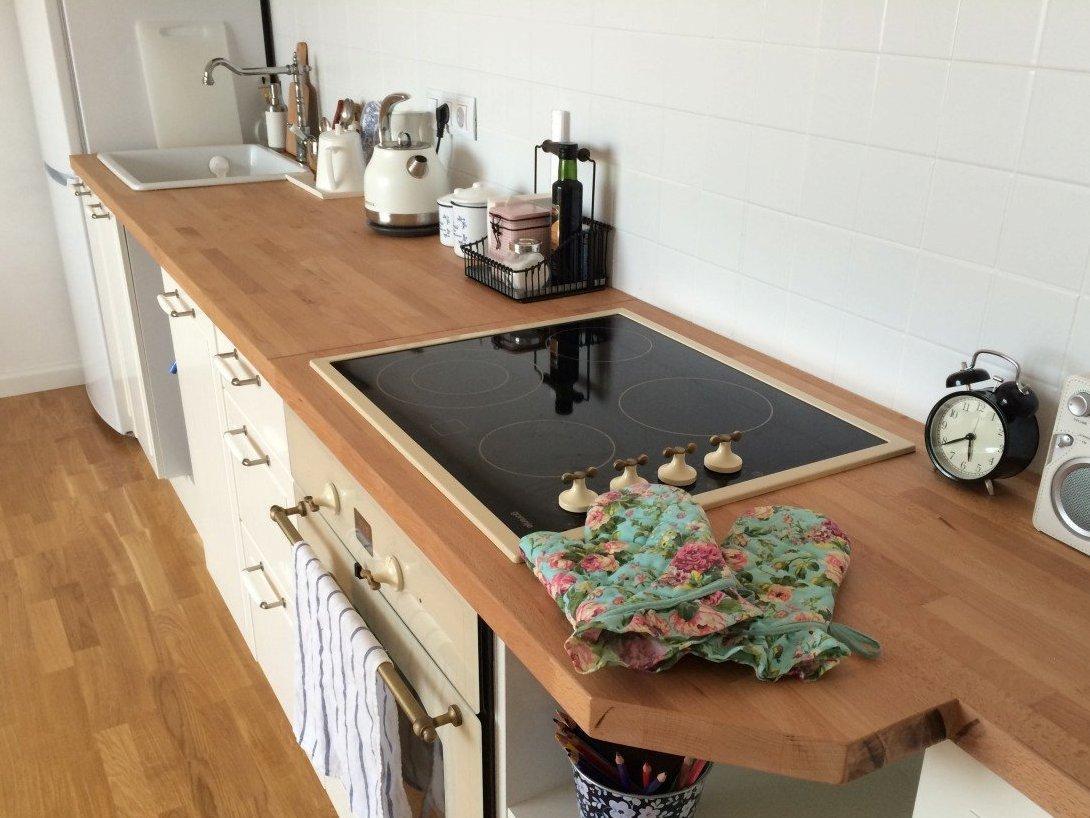 Дубовая прямоугольная столешница на кухню