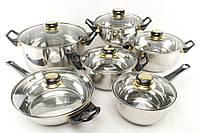 Набор посуды 12 предметов A-Plus 9036