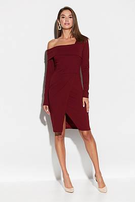 Элегантное женское платье с открытым плечом