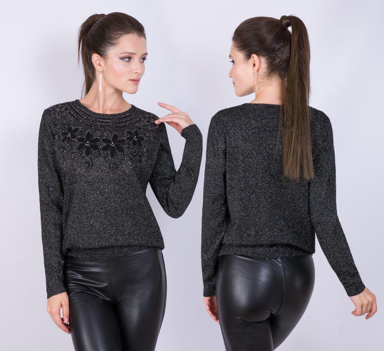 Женский тонкий свитерок 48-52 (в расцветках)