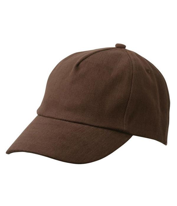 Дитяча пятипанельная кепка Темно-Коричневий