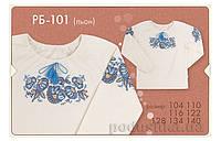 Блузка в этно-стиле для девочки Bembi РБ101 лен 140