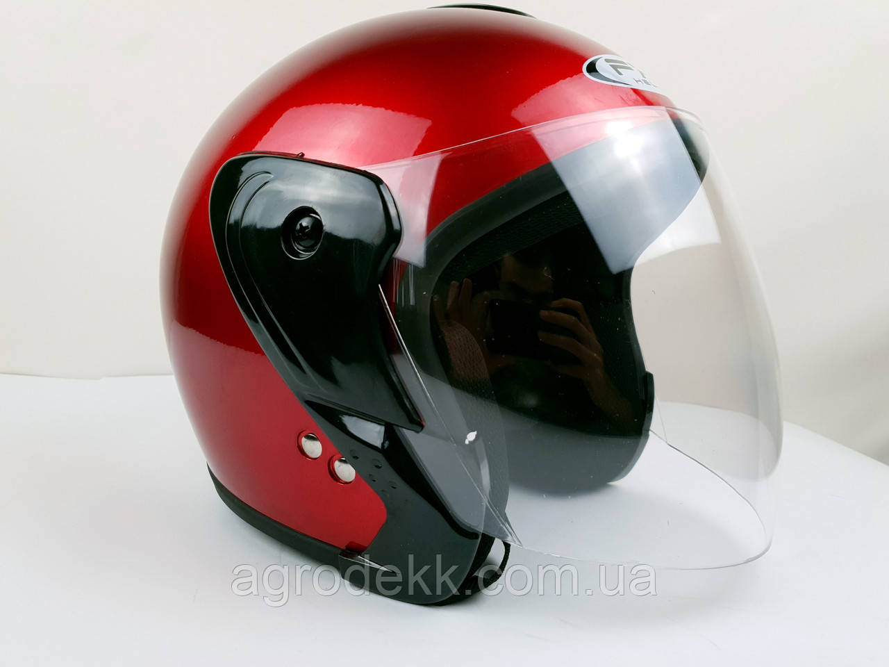 Шолом для мотоцикла Hel-Met 217 червоний глянець
