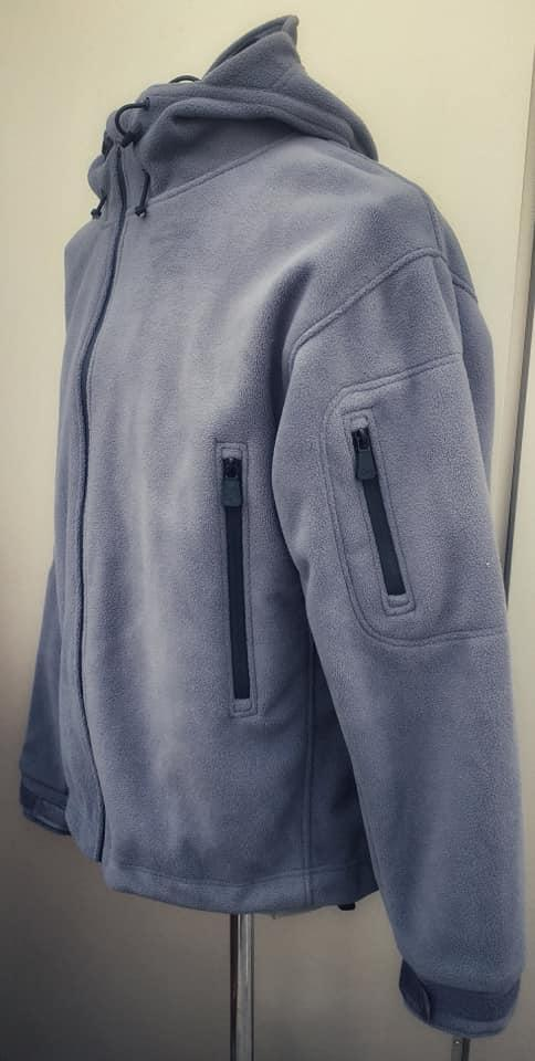 📣Куртки с капюшоном на мембране Waterproof Fleece серые