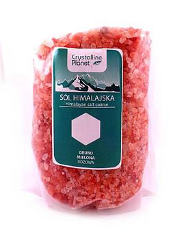 Соль Розовая гималайская крупный помол Bio Planet 1 кг