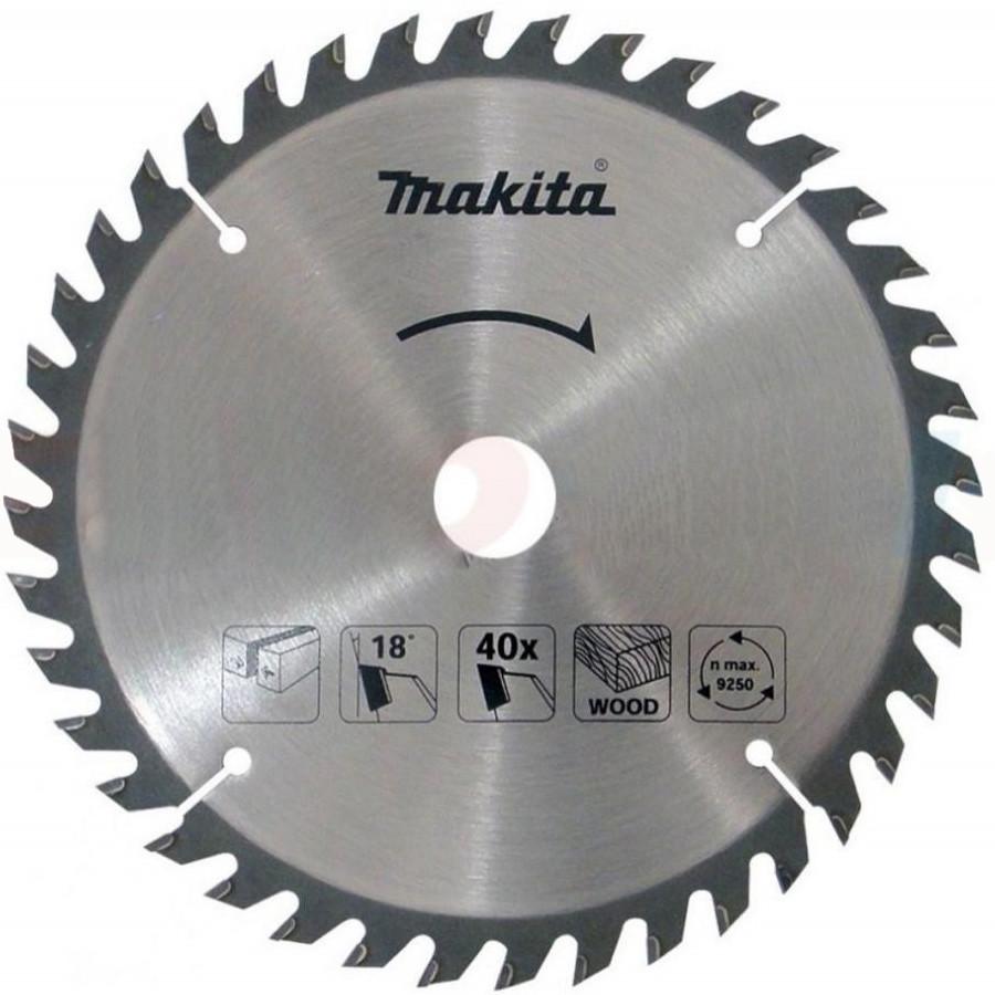 Пильный диск Makita ТСТ по дереву 185x30 мм x 40 зубьев (D-52607)